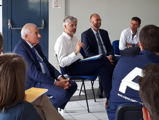 Dialogue entre Laurent Wauquiez et les industriels de l'AIRM