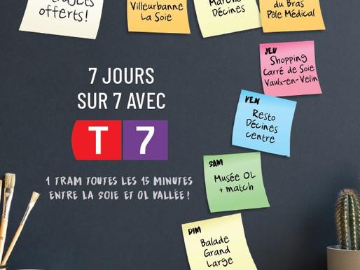 Nouveauté TCL : ouverture de la ligne T7 entre La Soie et OL Vallée et renfort de la ligne T3