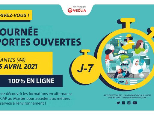 100% en ligne - Journée de recrutement en alternance chez VEOLIA - le 19 mai et les 2 & 23 juin