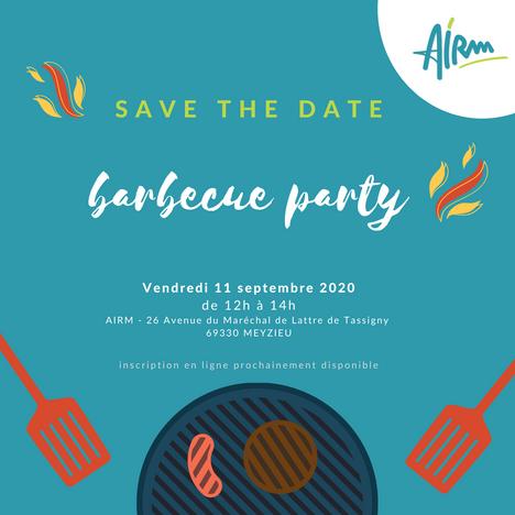 SAVE THE DATE- Barbecue de l'AIRM vendredi 11 septembre 2020