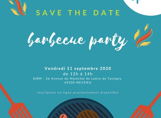 SAVE THE DATE- Barbecue de l'AIRM vendredi 11 septembre 2020