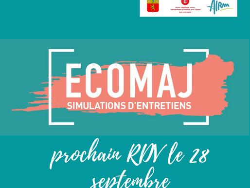 Les ECOMAJ reviennent le 28 septembre, nous comptons sur vous!