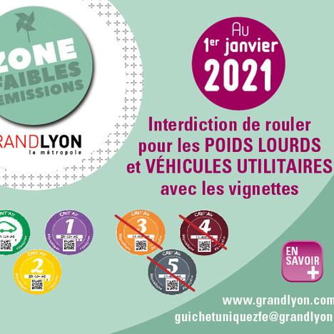 De nouvelles mesures applicable dès le 1er janvier pour la ZFE de la métropole de Lyon