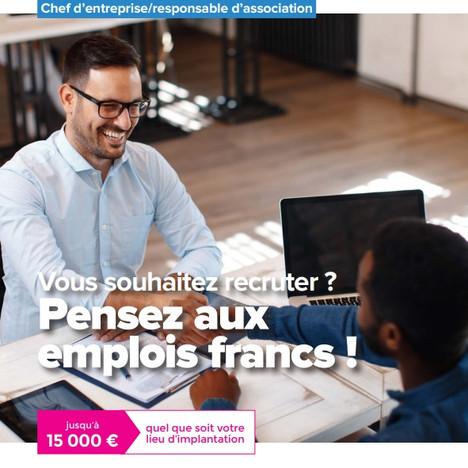 Emplois francs, pensez-y pour vos prochains recrutements !