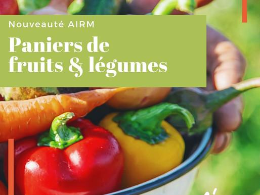 Nouveauté AIRM: tous les jeudis, votre panier de fruits et légumes livré au cœur de la ZI!