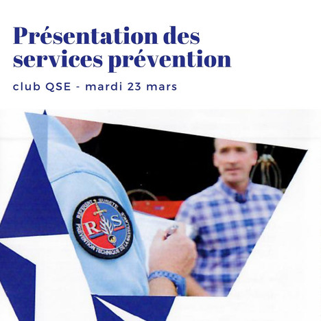 Présentation des services prévention
