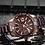 Thumbnail: Relógio Desportivo de Luxo para Homem NAVIFORCE 9117S - Castanho Ouro