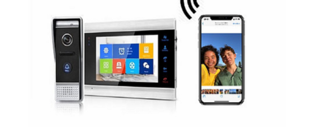 Video porteiro inteligente sem fio com Tuya WiFi modulo no monitor