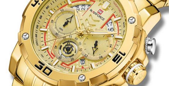Relógio Desportivo de Luxo para Homem NAVIFORCE 9175 - Ouro