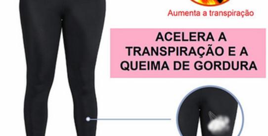Calça de neoprene de cintura alta para fitnes e emagrecimento 3 linhas de fecho