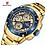 Thumbnail: Relógio Desportivo de Luxo para Homem NAVIFORCE 9179 - Ouro Azul