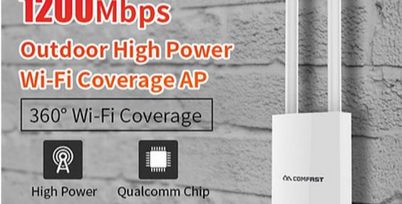 Ponto de acesso WiFi exterior de alta cobertura CF-EW72 5,8Ghz 1200Mbps