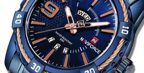 Relógio Desportivo de Luxo para Homem NAVIFORCE 9117S - Azul