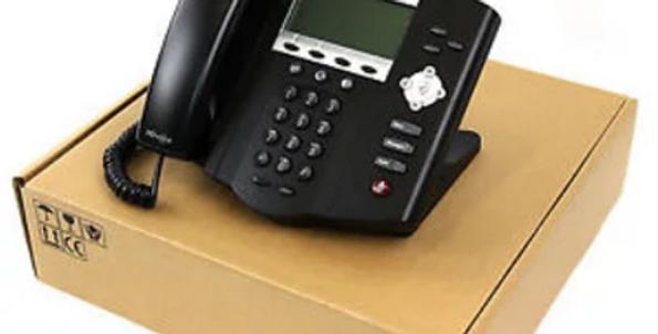 IP Phone Polycom IP450 PoE LAN HD Voice - Novo