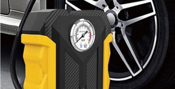 Bomba Compressora de Ar Portátil para Veículos, Motocicletas e Bicicletas CARSUN
