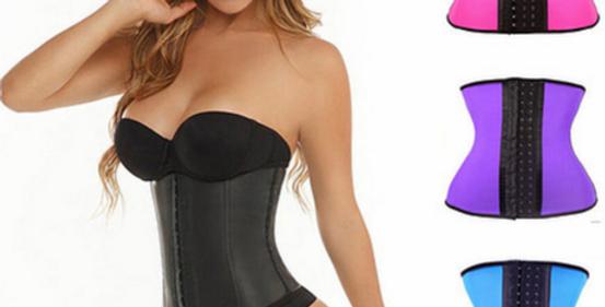 Cinta modeladora de cintura, c/ 3 linhas de ganchos - preto