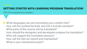 So you want to translate your online learning program. . .