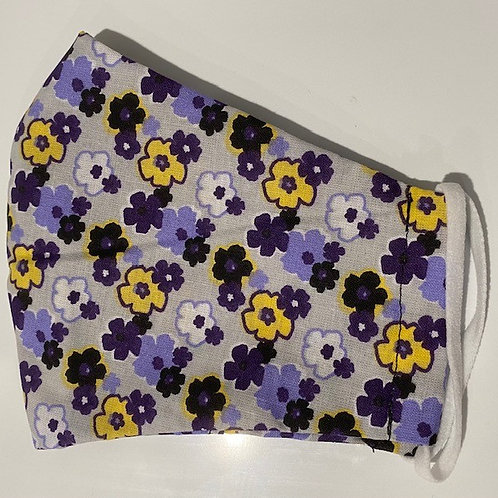 Purple and Yellow Floral