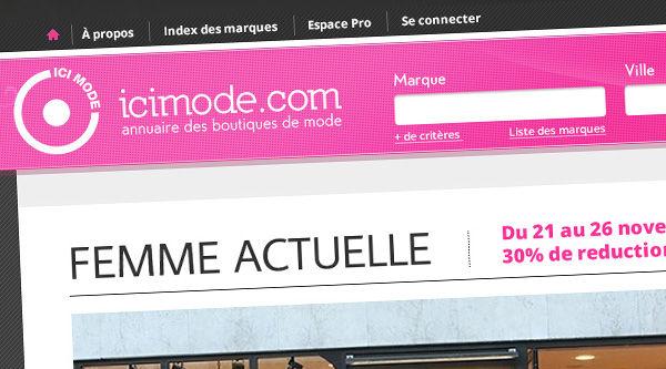Ici Mode - Web design