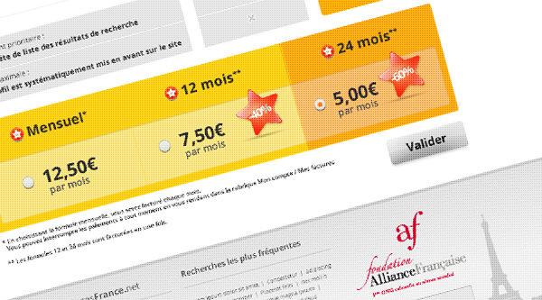Pages France - Web design