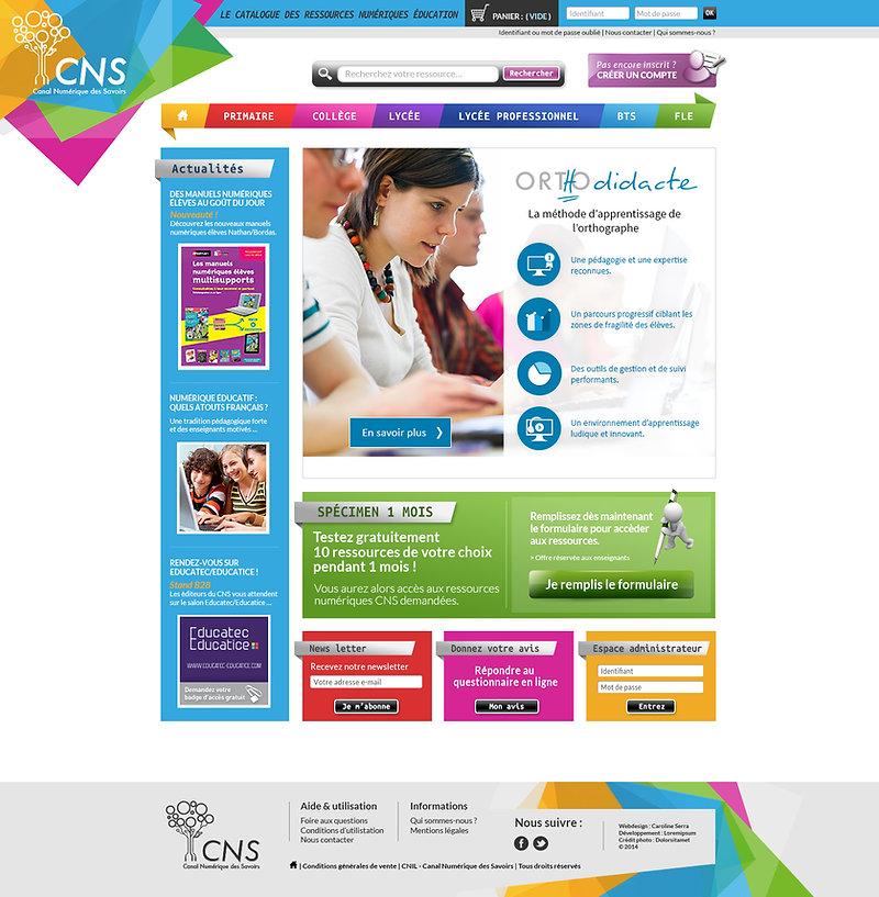CNS - Web design