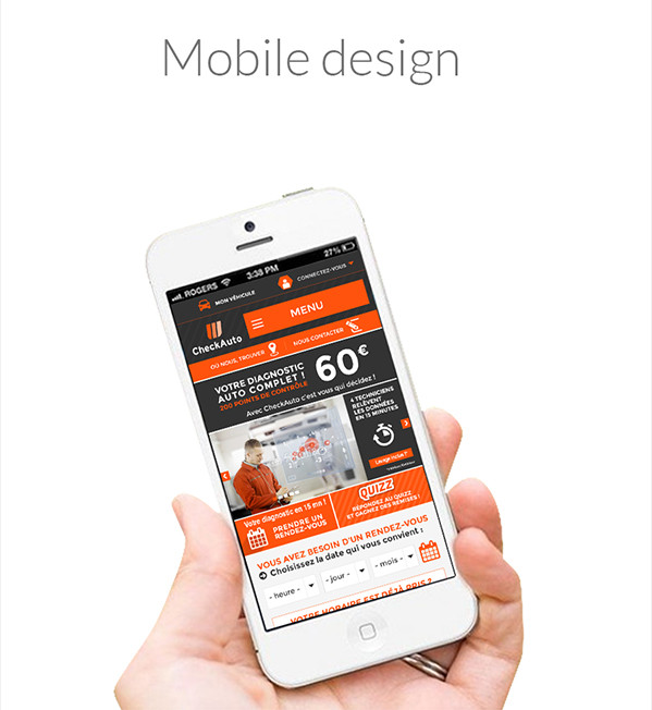 Check Auto - Mobile design
