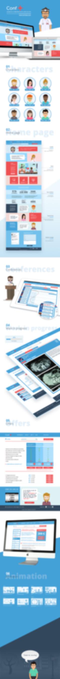 Conf + - Web design