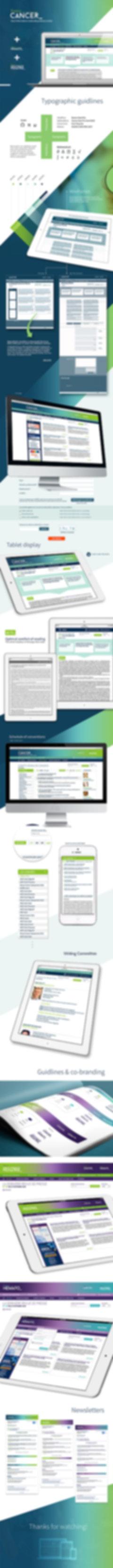 France Cancer - Web design
