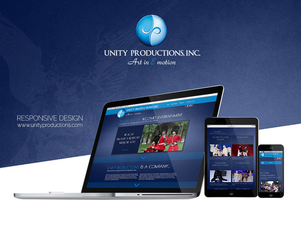 Unity Productions - Responsive design