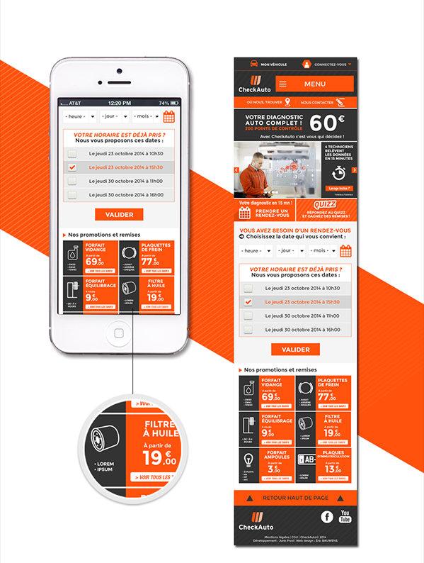 Check Auto - Mobile design