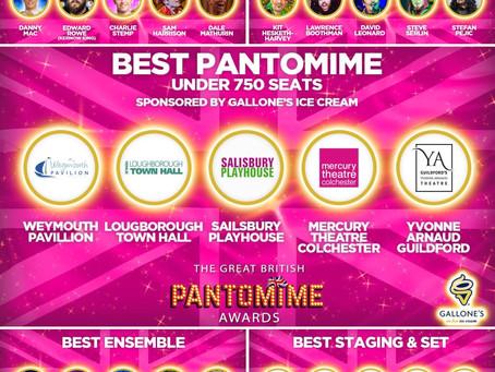 5 nominations at the Great British Pantomime awards!