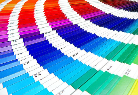 encre végétale, UV ,charte de couleurs