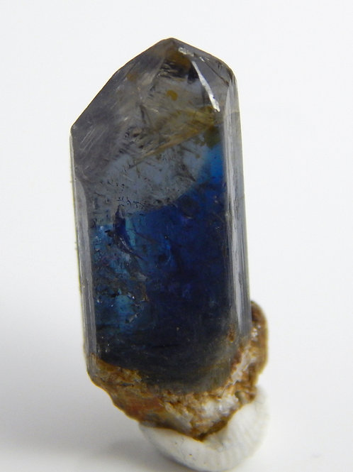 Blue Tri-Color Tanzanite Terminated Crystal 3.1 Grams (#73)