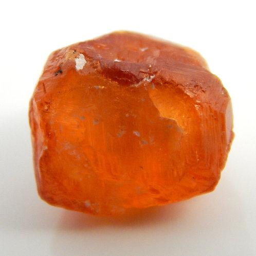 "Mandarin Spessaritite Garnet ""etched"" Crystal 3 Grams (#22)"