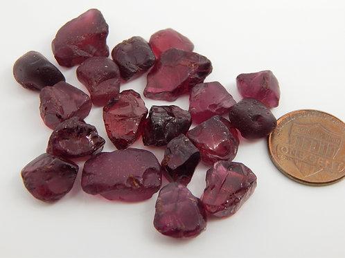 Rhodolite Garent facet rough parcel 28.8 grams (#288p)