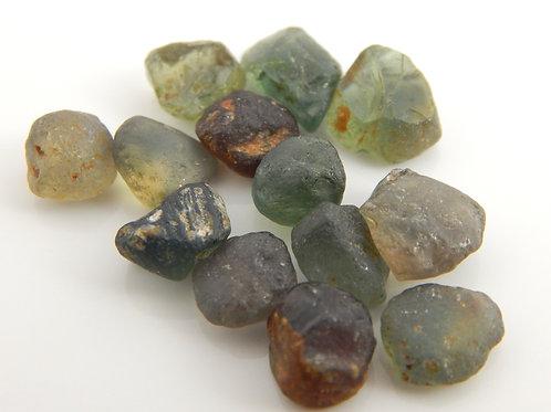Songea heated Sapphire Parcel Facet Rough 5.2 Grams (#94p)