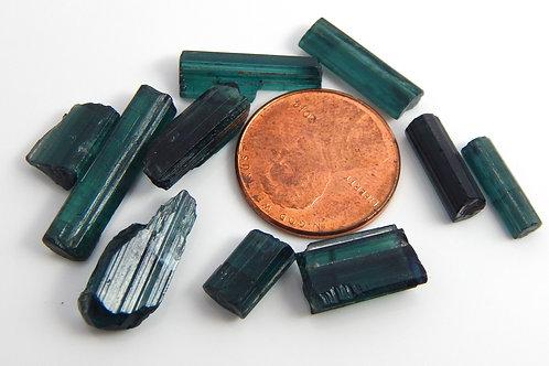 Indicolite Tourmaline mixed facet rough parcel 6.4 Grams (#85)