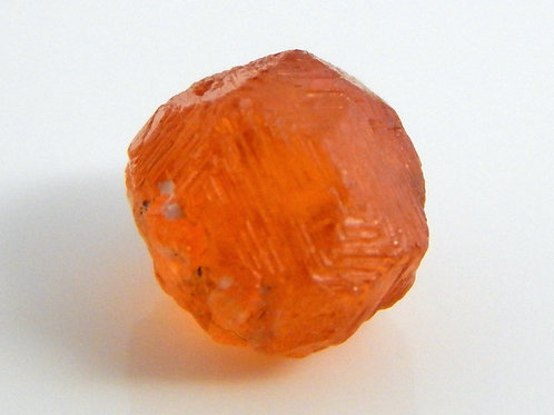 "Mandarin Spessaritite Garnet ""etched"" Crystal 0.7 Grams (#20)"