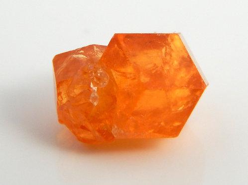 Spessartite Garnet Oyo State Nigeria Twin Crystal Rough 1.1 Grams (#14)