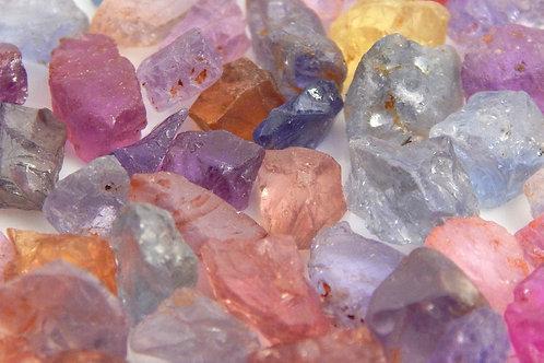 Umba Sapphire Facet Rough Parcel 10 Grams (#136p)