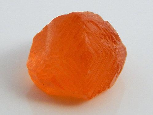 "Mandarin Spessaritite Garnet ""etched"" Crystal 1.2 Grams (#10)"