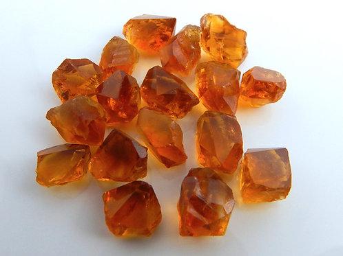 Orange Heated Citrine Crystal/Facet Rough Parcel 21.3 Grams (#1)