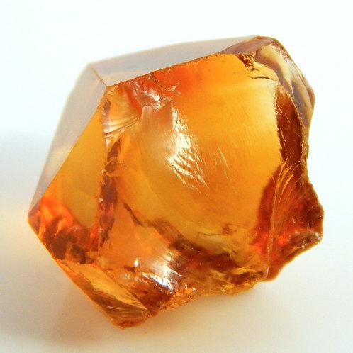 Orange Heated Citrine facet rough 2.6 grams (#17p)