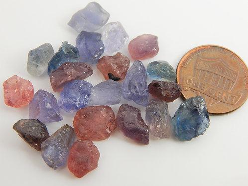 Umba sapphire facet rough parcel 12.5 grams (#428p)