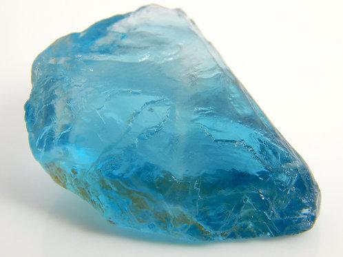 Blue Fluorite Top Facet Grade 7.7 Grams (#4)
