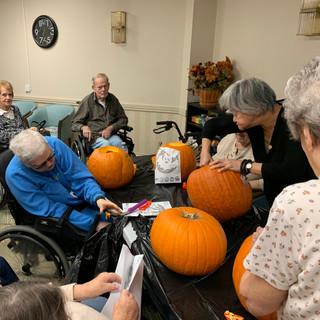 Greenview 2019 Halloween Activity - pumpkin carving