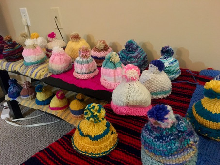 Visually Impaired Governors Walk Resident is Knitting For A Cause!