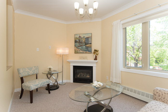 Suite Den with Fireplace