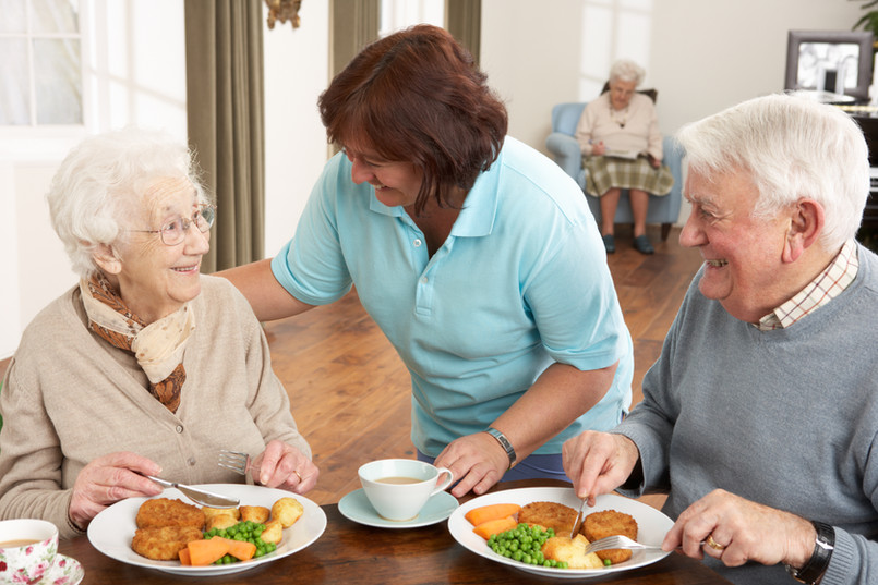 Enjoy meals with staff on sight to help when needed.