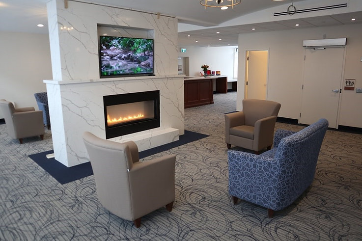 Queens Estate Fire Place Lobby